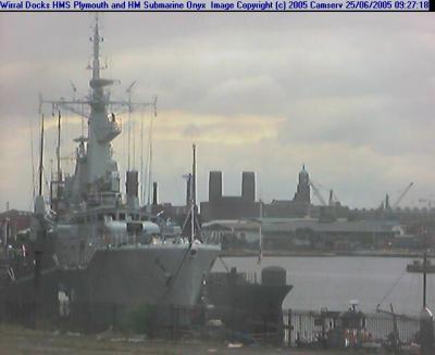 Liverpool webcam - Wirral Docks webcam, England, Merseyside