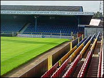 Stands at Southend United's football ground