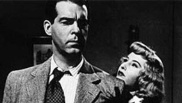 Barbara Stanwyck and Fred MacMurray in Billy Wilder's Double Indemnity