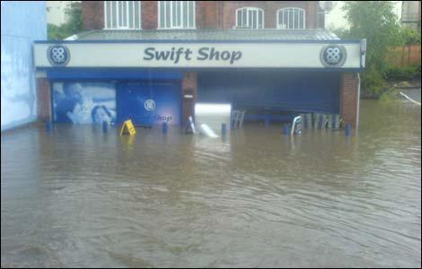 Gloucestershire Floods 2007 Cheltenham Gloucester Glos Evesham Tewksbury Flood Flooding