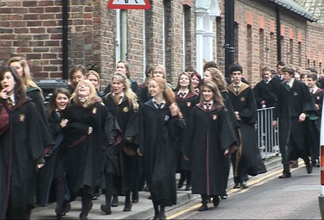 Harry Potter filming in Gloucester