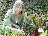 Helen Pitel in her garden in Cainscross, Stroud