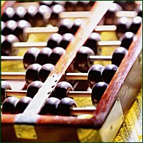 An abacus.