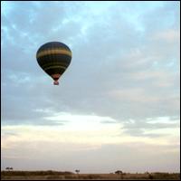 A hot-air balloon.