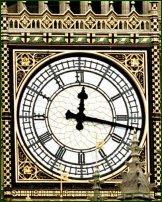 The clockface of Big Ben.