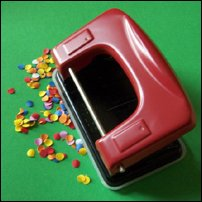 A red holepunch.