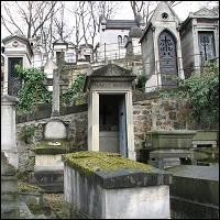 Graves in the cemetery of Pere-Lachaise.