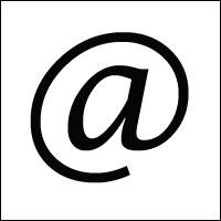 The '@' symbol.