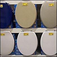 Some toilet seats.