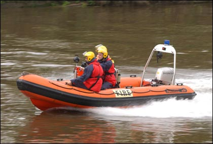 Flood rescue demo - River Severn - Worcester