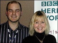 BBC H&Ws Andrew Easton with Liza Goddard