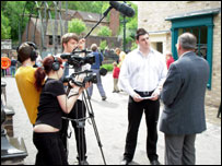 DFPR Students Interviewing MEP's for the BBC