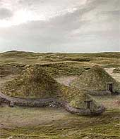 Reconstruction of houses on South Uist
