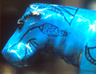 Hippo in blue Egyptian faience