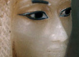 Close-up of what is believed to be one of the Princess Kiya's canopic jars (a sacred vessel containing one of her preserved vital organs).