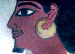 Image of Sennefer as portrayed in one of the wall paintings within his tomb on the west bank at Luxor.