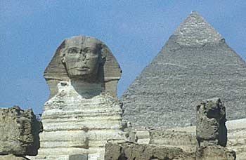 Khaefre's pyramid and Sphinx