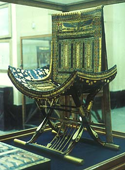 Inlaid throne