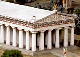 A model of the Temple of Zeus