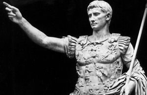 The emperor Augustus. Image from bbc.co.uk