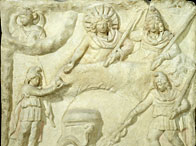 The banquet of Mithras and the Sun