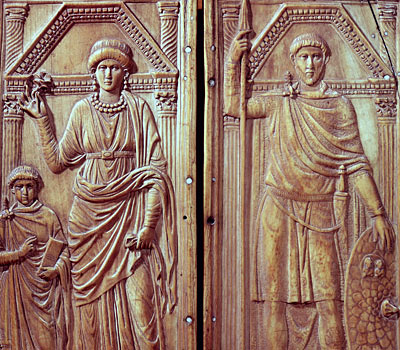 Diptych depicting Stilicho, Serena and Eucharius