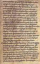 image of an extract from the Anglo-Saxon Chronicle