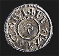 Image of coin of 'King Cnut'