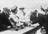 Competitors receiving their medals in 1908