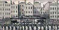 Drawing of the execution of the rebel lords in 1746