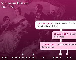 Logo for British History Timeline