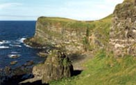 Photograph showing the coast of Antrim