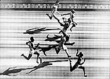Photo-finish of the 100m final in 1948