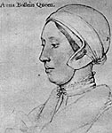 Anne Boleyn, c. 1533, from the drawing by Hans Holbein