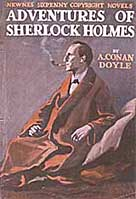 The book cover for The Adventures of Sherlock Holmes