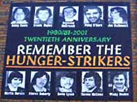 Mural commemorating the 20th anniversary of the hunger strike