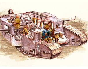 BBC - History - World Wars: Weapons of War: Mark 1 Tank Tanks Ww1 Diagram