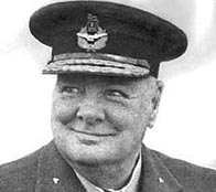 Photograph showing Winston Churchill in military dress