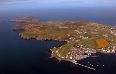 Isle of man from the air.