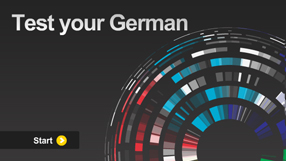 Image via BBC's page Languages, German. Click to go to the test.