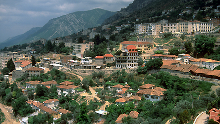 Kruje, Albania - general view of city © BBC
