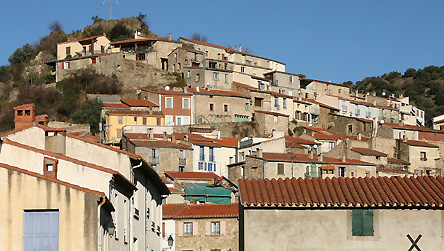 General view of an old Catalan village copyright BBC / Fred Adler. Old Catalan village in the hilltops.