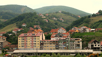 Houses on the outskirts of Pristina © BBC