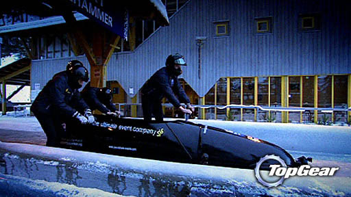 Can a rally car beat a bobsleigh - on ice?