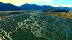 The Rakaia river - a braided river valley