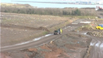 A landfill site in Belfast being developed as a park