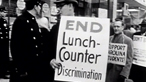 Why did lunch counter protests make the headlines in the USA in 1960?