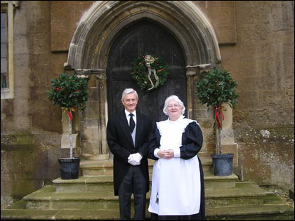 The housekeeper and Butler at Rockingham Castle