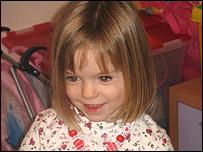 Leicestershire toddler Madeleine McCann