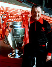 Paisley with the European Cup